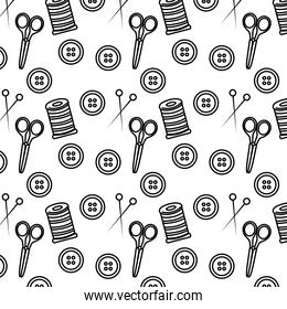 line sewing textile fashion objects background