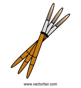 color drawing paintbrushes art and decoration tool