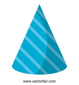 party hat accesory with decoration design