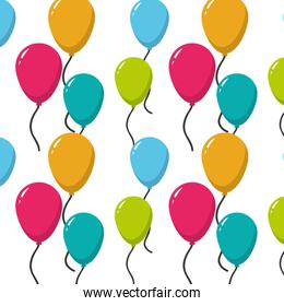 fun balloons party decoration background