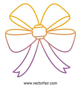 degraded line cute ribbon bow accesory design