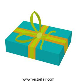 present gift package with ribbon bow