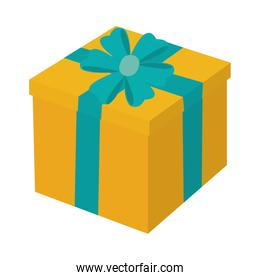 present gift object with ribbon bow