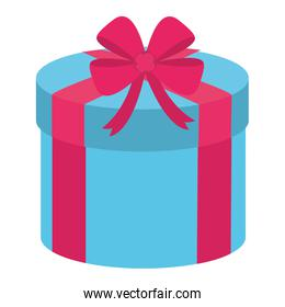 present gift holiday with ribbon bow