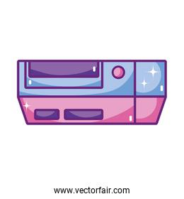 videogame console play with button technology