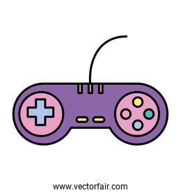 color videogame controller with play buttons technology