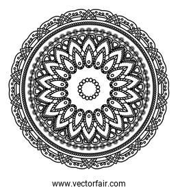 line mandala abstract ornament indian style