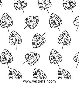 line tropical leaf natural style background