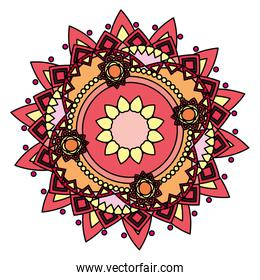 color ornament mandala abstract decoration style