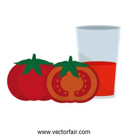 organic tomato vegetable and healthy juice