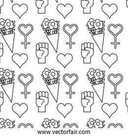 line womens day celebration and decoration background
