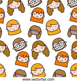 color women head with hairstyle background design