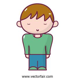 boy with fashion casual clothe and hairstyle