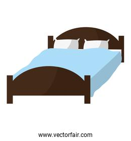 comfortable bed with pillows object to sleep
