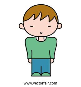 color boy with fashion casual clothe and hairstyle