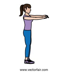 color fitness woman exercise training lifestyle