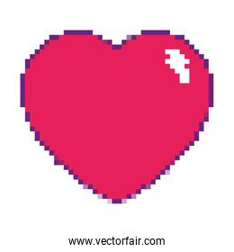 game pixel heart life graphic