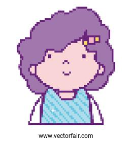 girl with hairstyle videogame virtual character