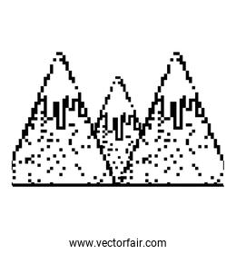 grunge pixel snowy mountains game cold weather