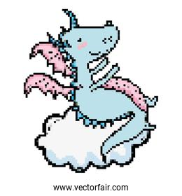 cute moster dragon mystic in the cloud