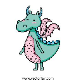 mystic dragon moster with cute wings