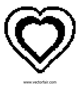 line heart symbol of love and pasion design