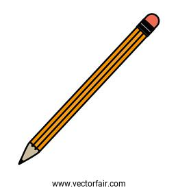 color wood pencil object to write and draw