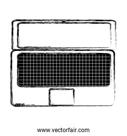 grunge electronic laptop with screen technology service