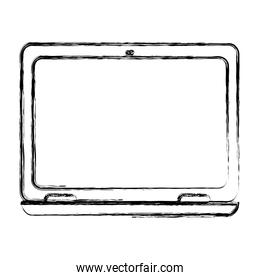 grunge laptop with electronic screen technology service