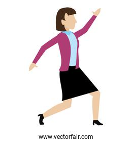 elegant businesswoman professional with hand up