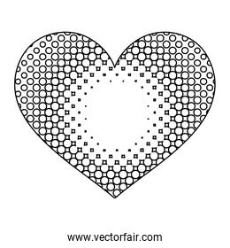 line heart design symbol of passion and love