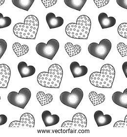 line hearts symbol of love and passion background