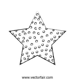 grunge nature sparkly star with points style