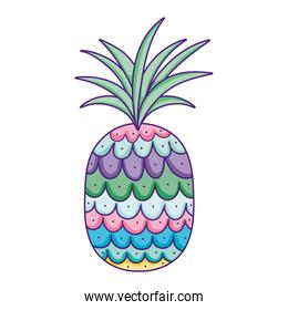 tropical pineapple fruit exotic nutrition