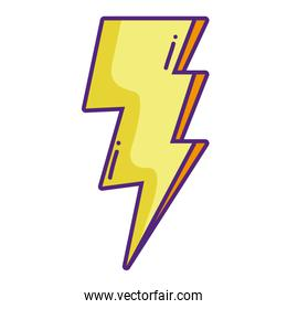 electric thunder weather to danger sign