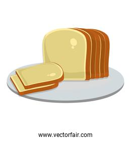 tasty slice bread food in the plate
