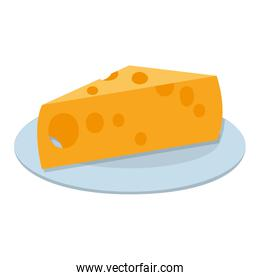 yummy cheese fresh food in the plate