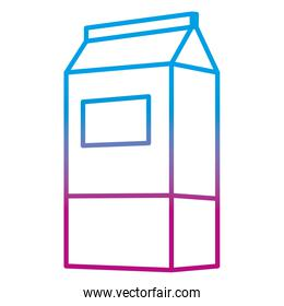 degraded line healthy milk fresh beverage in the box
