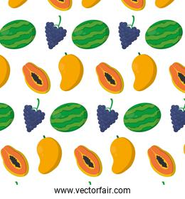 delicious organic fruits nutrition background
