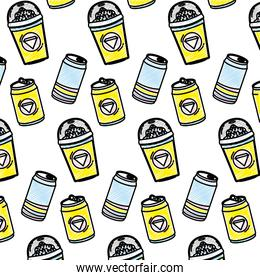 doodle refreshing soda and smoothie beverages background