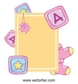 emblem card to baby shower party
