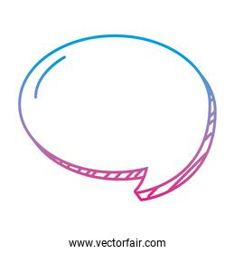 degraded line circle chat bubble note text