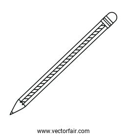 line wood pencil object to draw and write