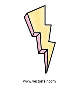doodle nature thunder weather electric voltage