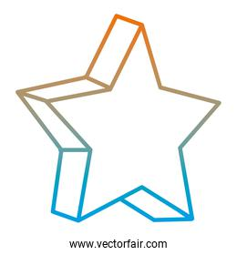 degraded line sparkly star 3d style shape