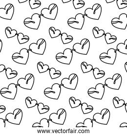 line glasses object with heart style background