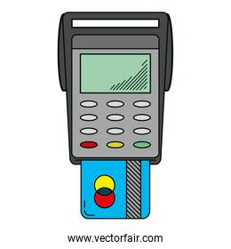 electronic dataphone with digital credit card