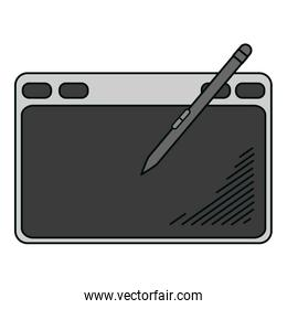 electronic graphic tablet with pen technology