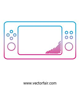 degraded line electronic game console handheld videogame