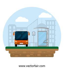 front bus transport and city passenger